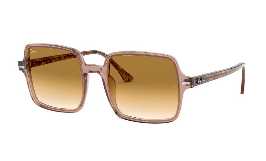 Óculos de Sol Ray-Ban Square II Marrom Transparente RB1973 - 128151/53