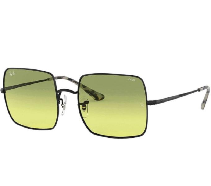 Óculos de Sol Ray-Ban Square Preto/Amarelo RB1971 - 9152AB/54