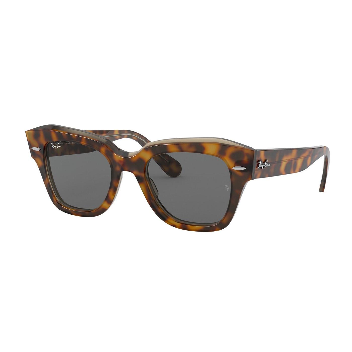 Óculos De Sol Ray-Ban State Street Tartaruga RB2186 - 1292/B1/49
