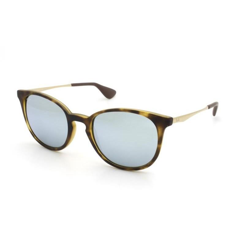Óculos de Sol Ray-Ban Tartaruga e Prata Espelhado RB4270L - 627530/53