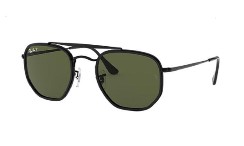 Óculos de Sol Ray-Ban The Marshal II Preto RB3648M - 002/58/52 Polarizado