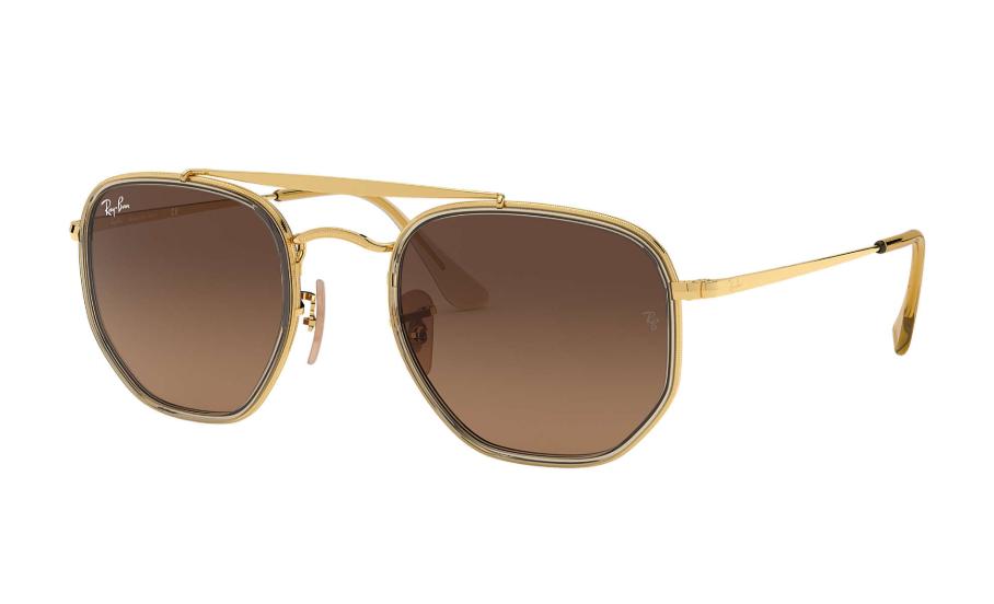 Óculos de Sol Ray-Ban The Marshal II RB3648M Dourado - 912443/52