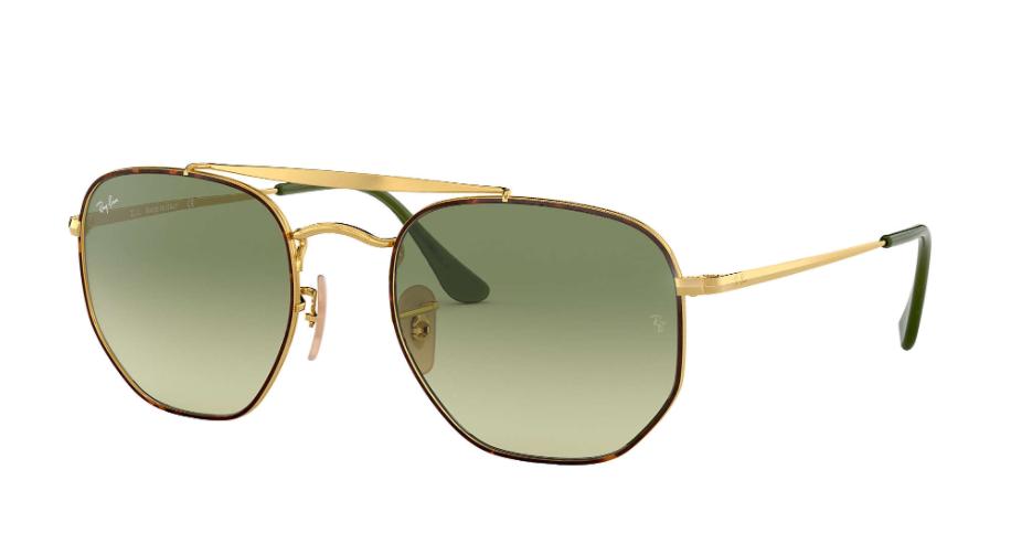 Óculos de Sol Ray-Ban The Marshal Tartaruga/Dourado RB3648 - 91034M/54