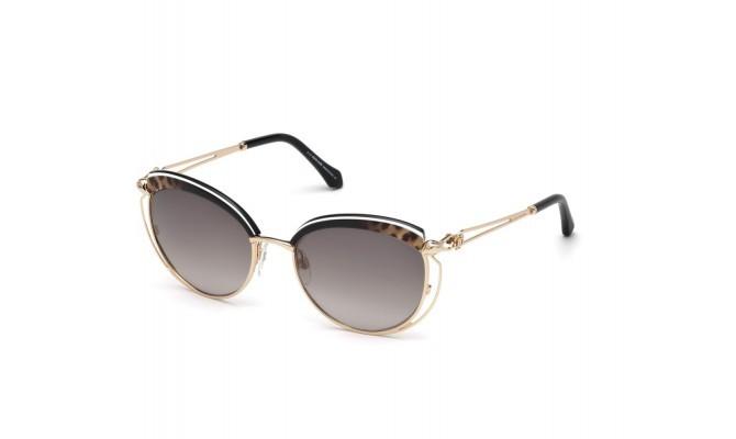 Óculos de Sol Roberto Cavalli Casola Preto/Dourado RC1032 - 05B/56