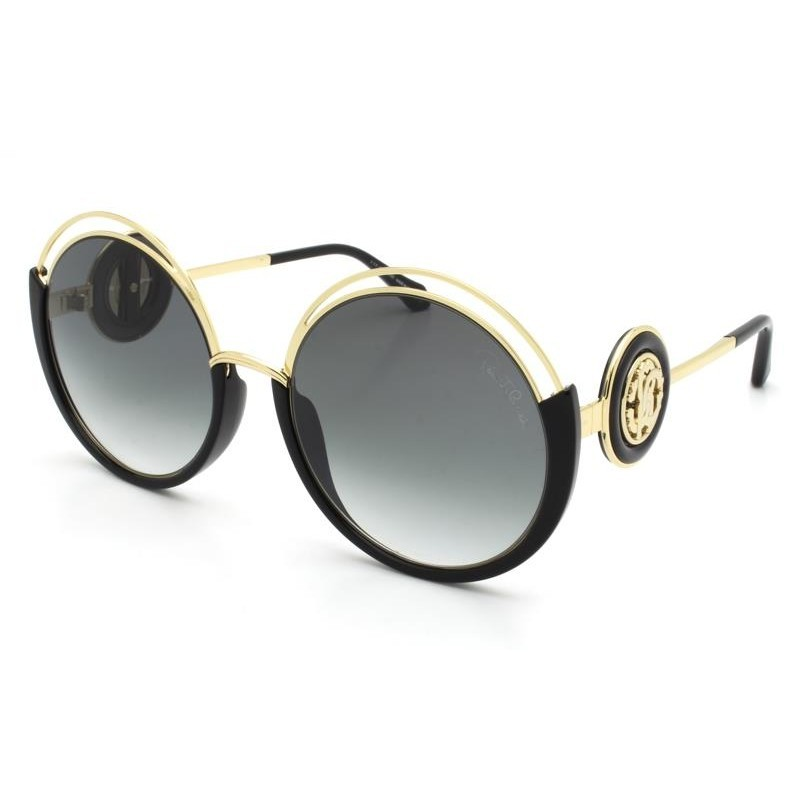 Óculos de Sol Roberto Cavalli Montemurlo Preto/Dourado 1087 - 01B/58