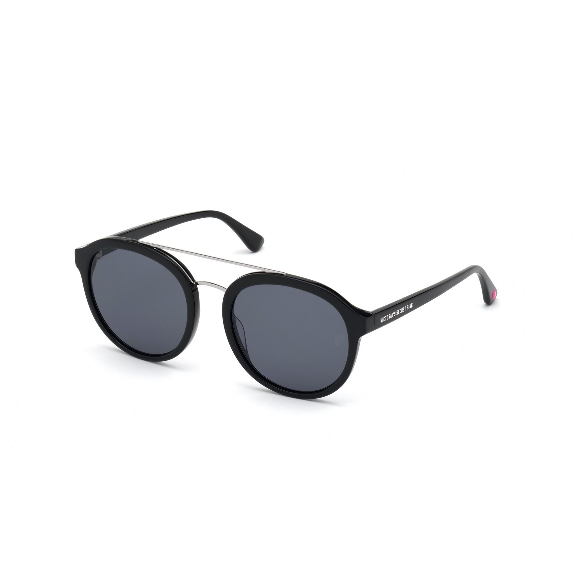 Óculos de Sol Victoria's Secret Pink Preto PK0021 - 01A/55