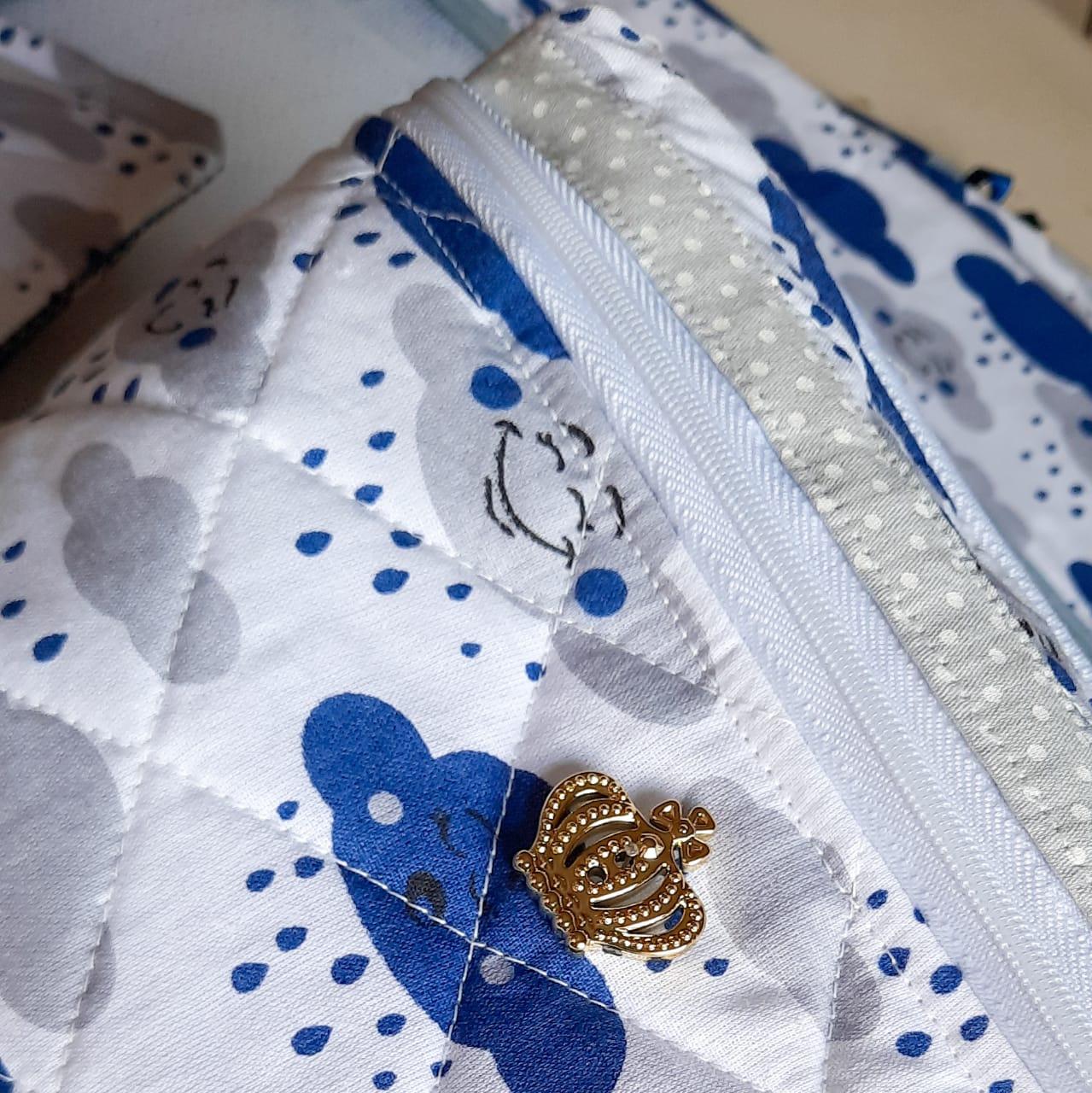 Kit saquinhos maternidade + capa carteirinha de vacina + necessaire