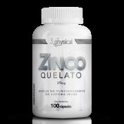Zinco Quelato 29mg (100 Cápsulas) - Physical Pharma