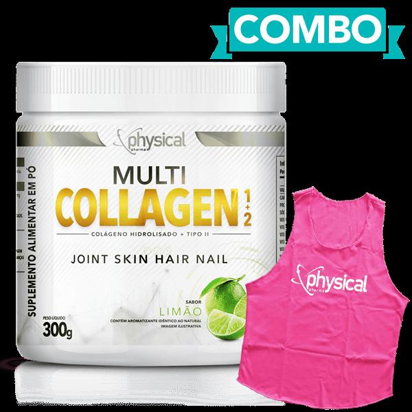 Compre Multi Collagen 1+2 Sabor Limão (300g) e Ganhe Regata Feminina - Physical Pharma