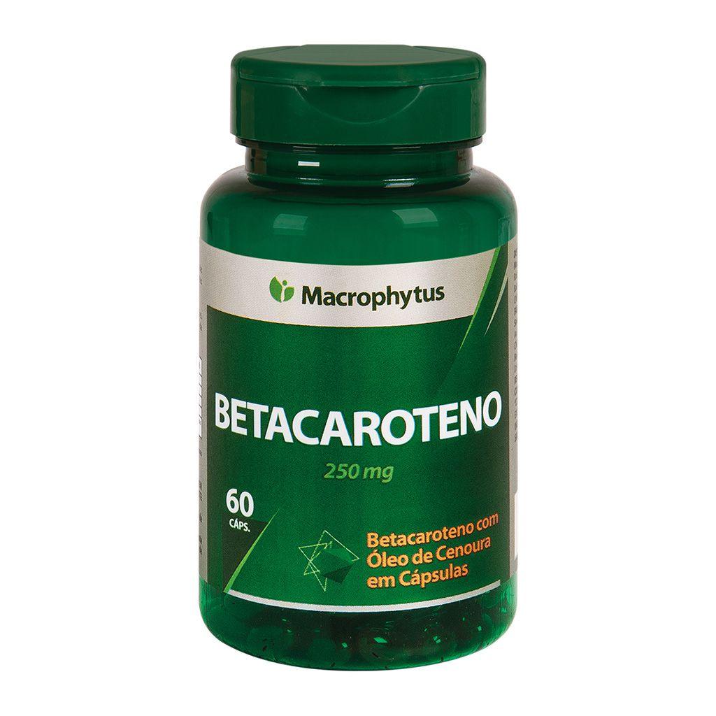 Betacaroteno 250mg 60 cápsulas
