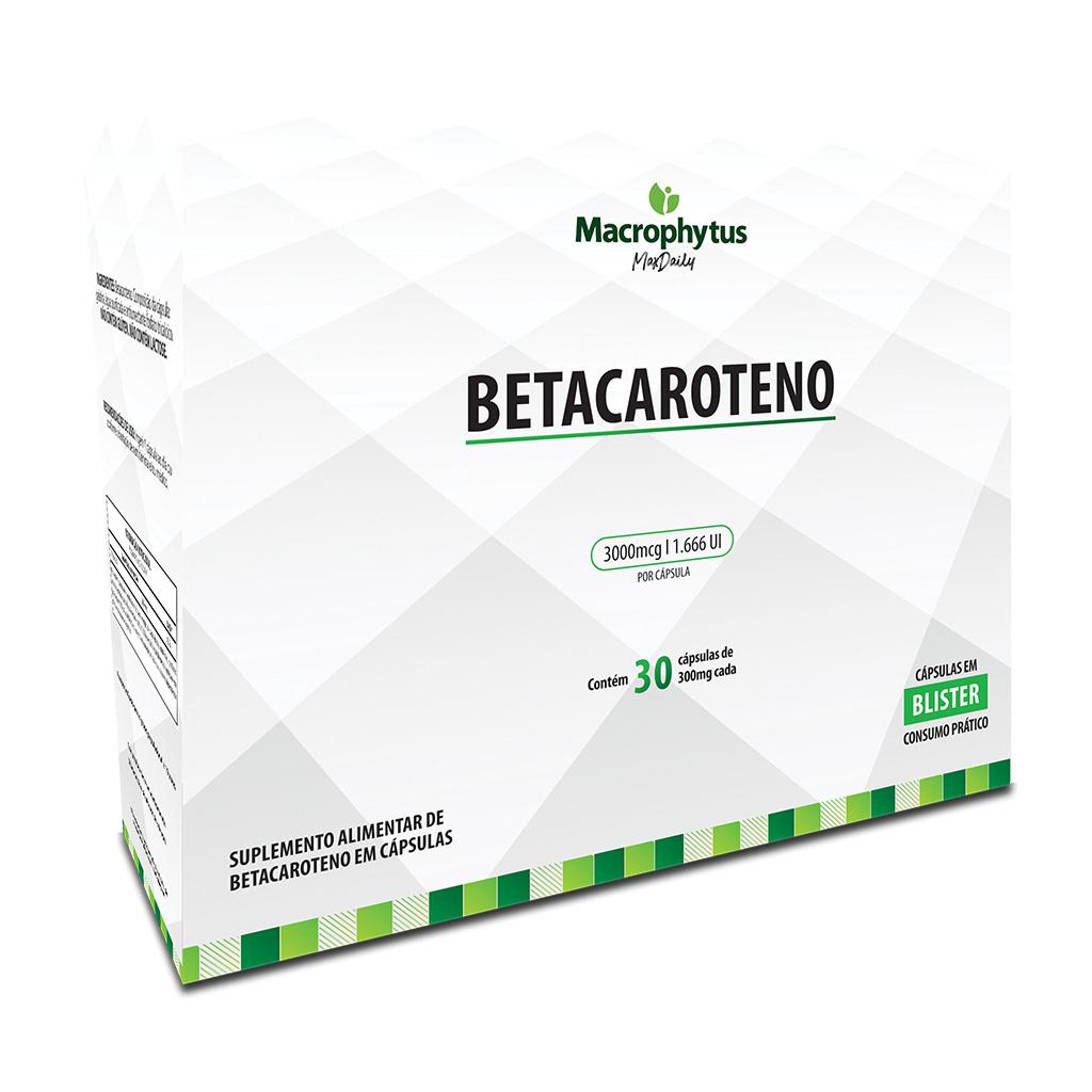 Betacaroteno 300mg 30 cápsulas 1.666UI (Blister)
