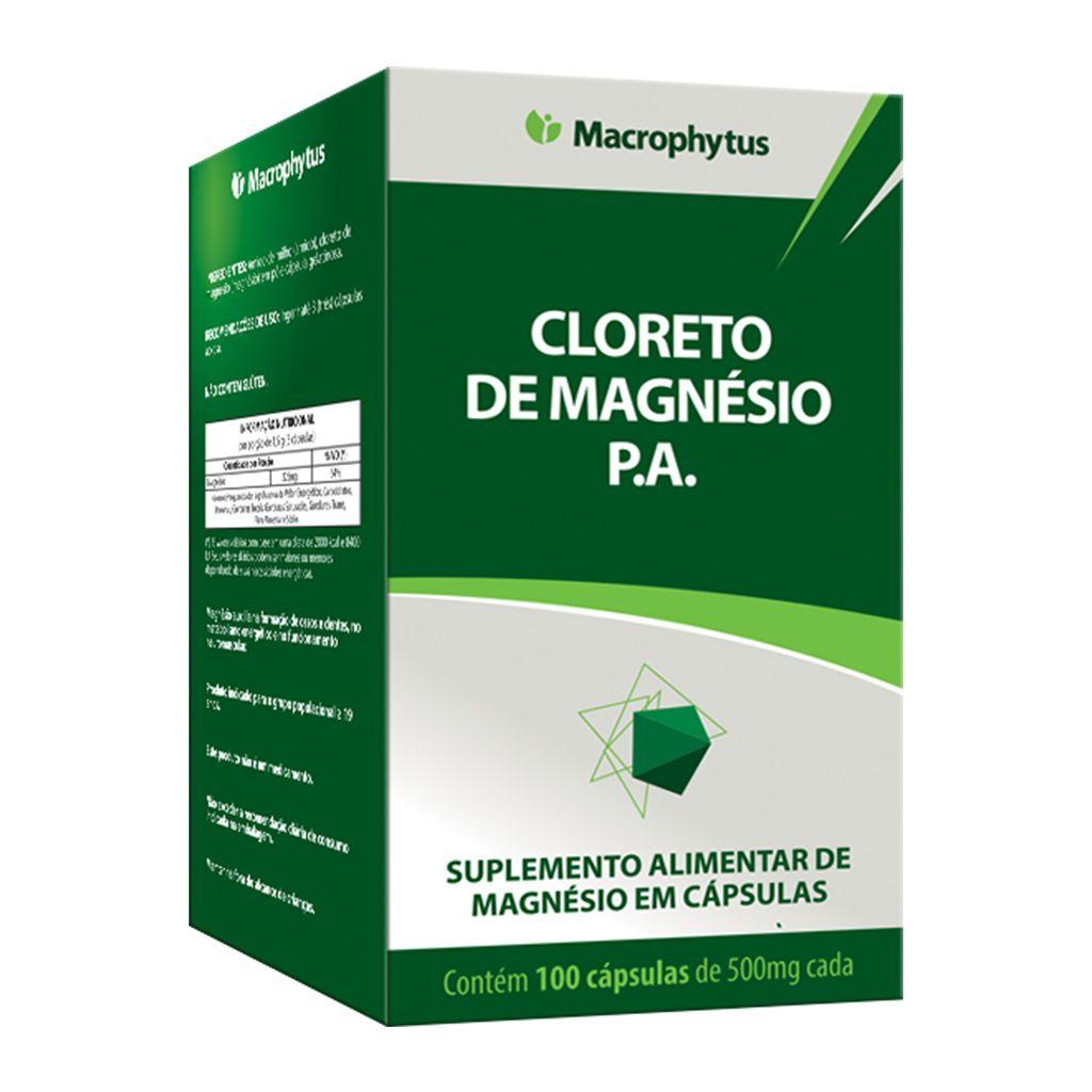 Cloreto de Magnésio P.A 500mg 100 cápsulas