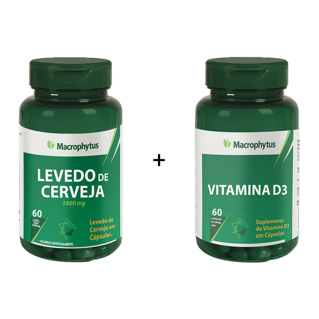 Combo Levedo de Cerveja + Vitamina D3
