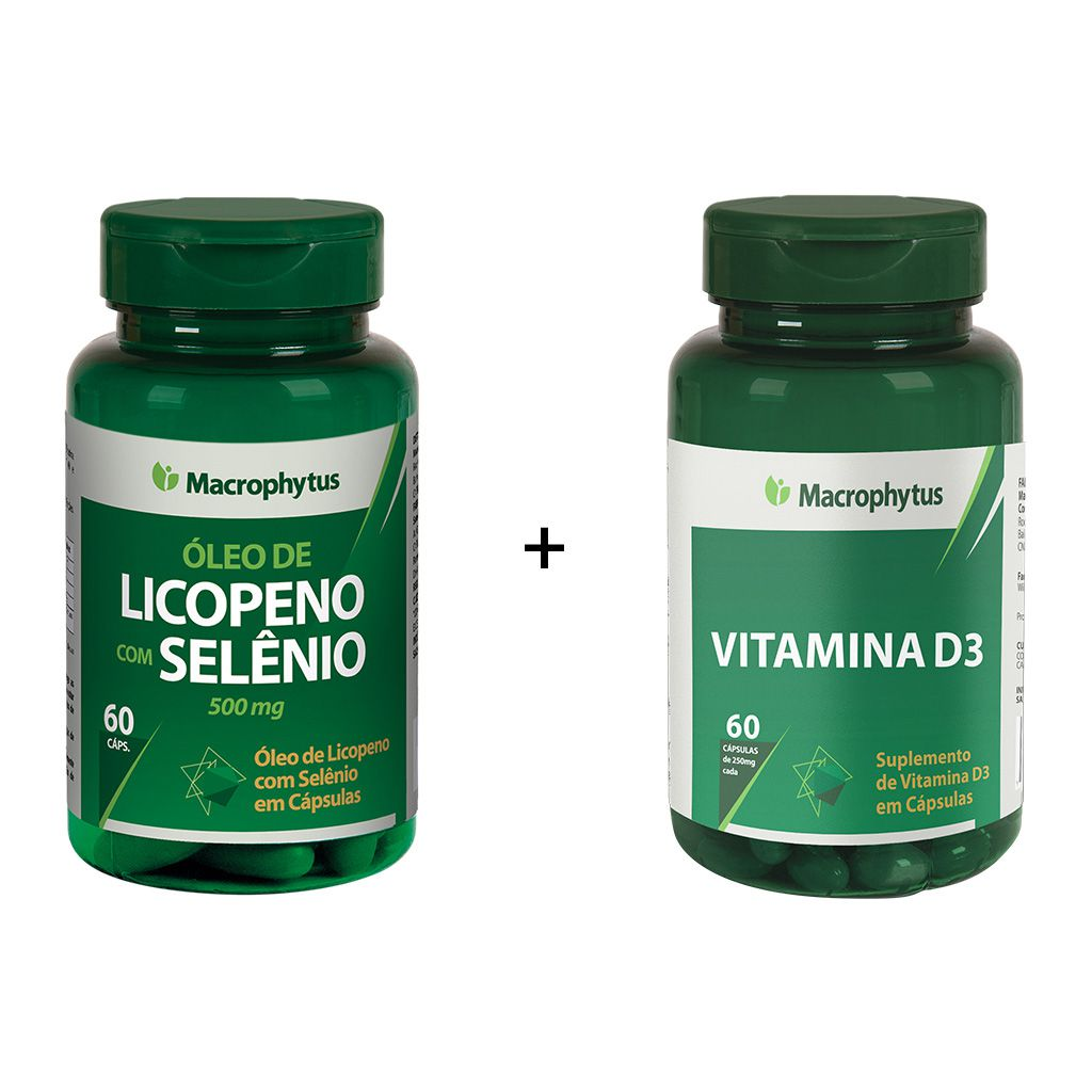 Combo Licopeno com Selênio + Vitamina D3