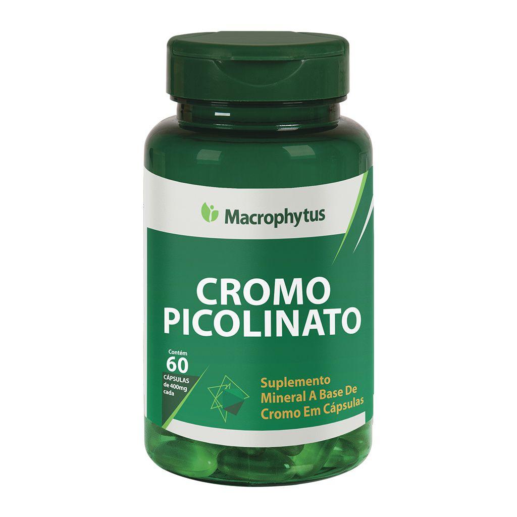 Cromo Picolinato 400mg 60 cápsulas