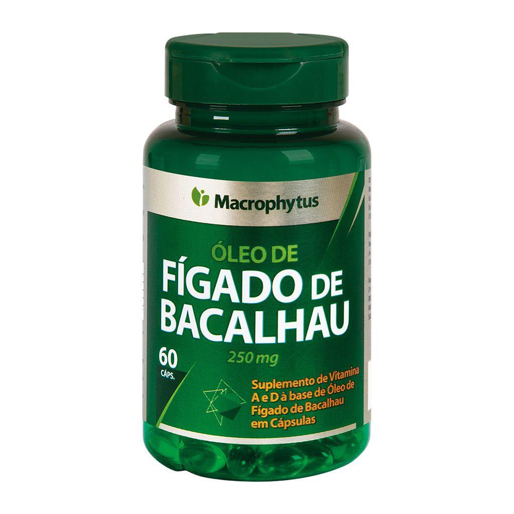 Figado de Bacalhaú 250mg 60 cápsulas
