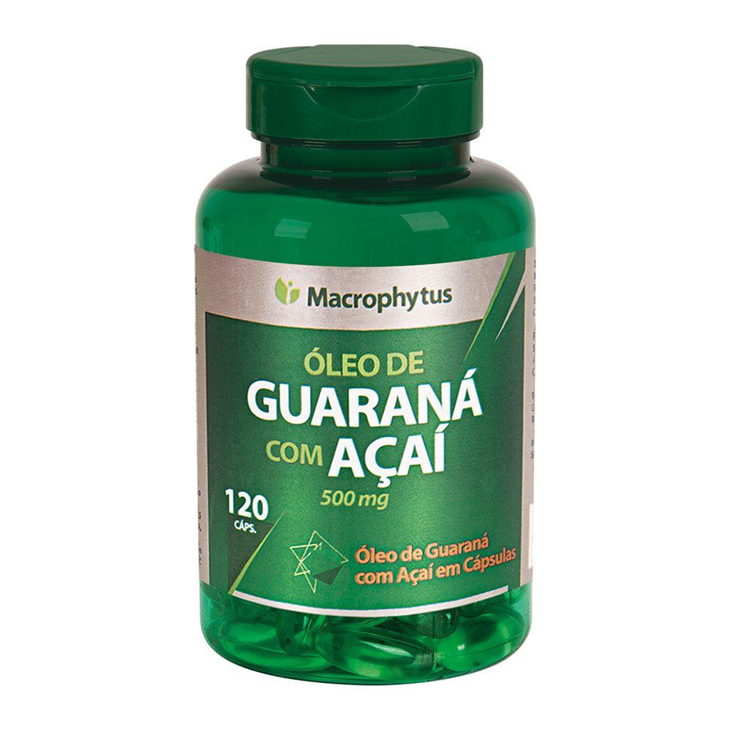 Guarana com Açaí 500mg 120 cápsulas