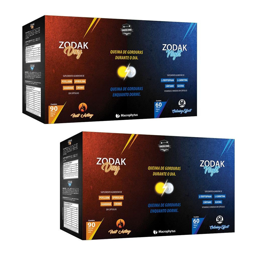 Kit 2 Zodak Kit Day & Night Emagrecedor (2 meses de tratamento)