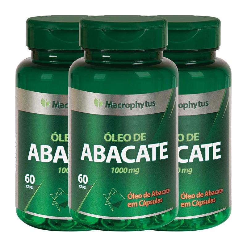 Kit 3 Abacate 1000mg 60 cápsulas