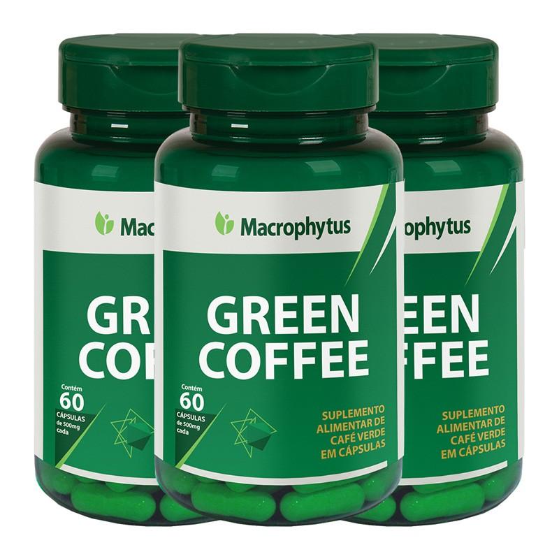 Kit 3 Café Verde (Green Coffee) 500mg 60 cápsulas