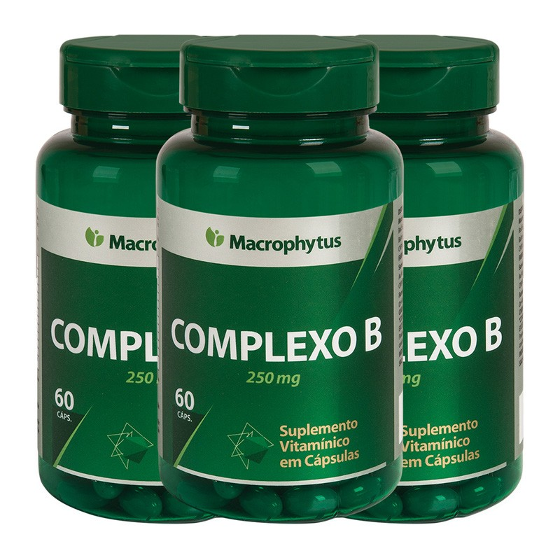 Kit 3 Complexo B 250mg 60 cápsulas