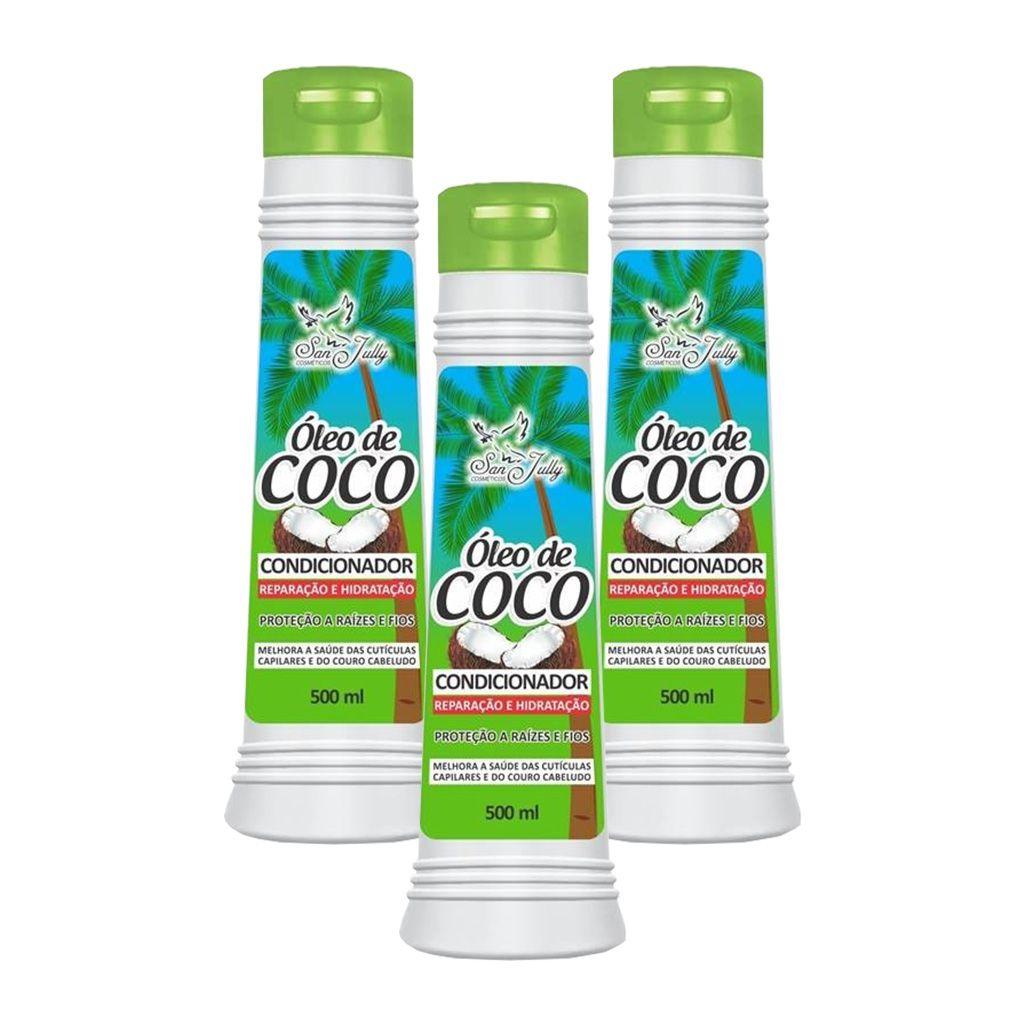 Kit 3 Condicionador Óleo de Coco 500ml