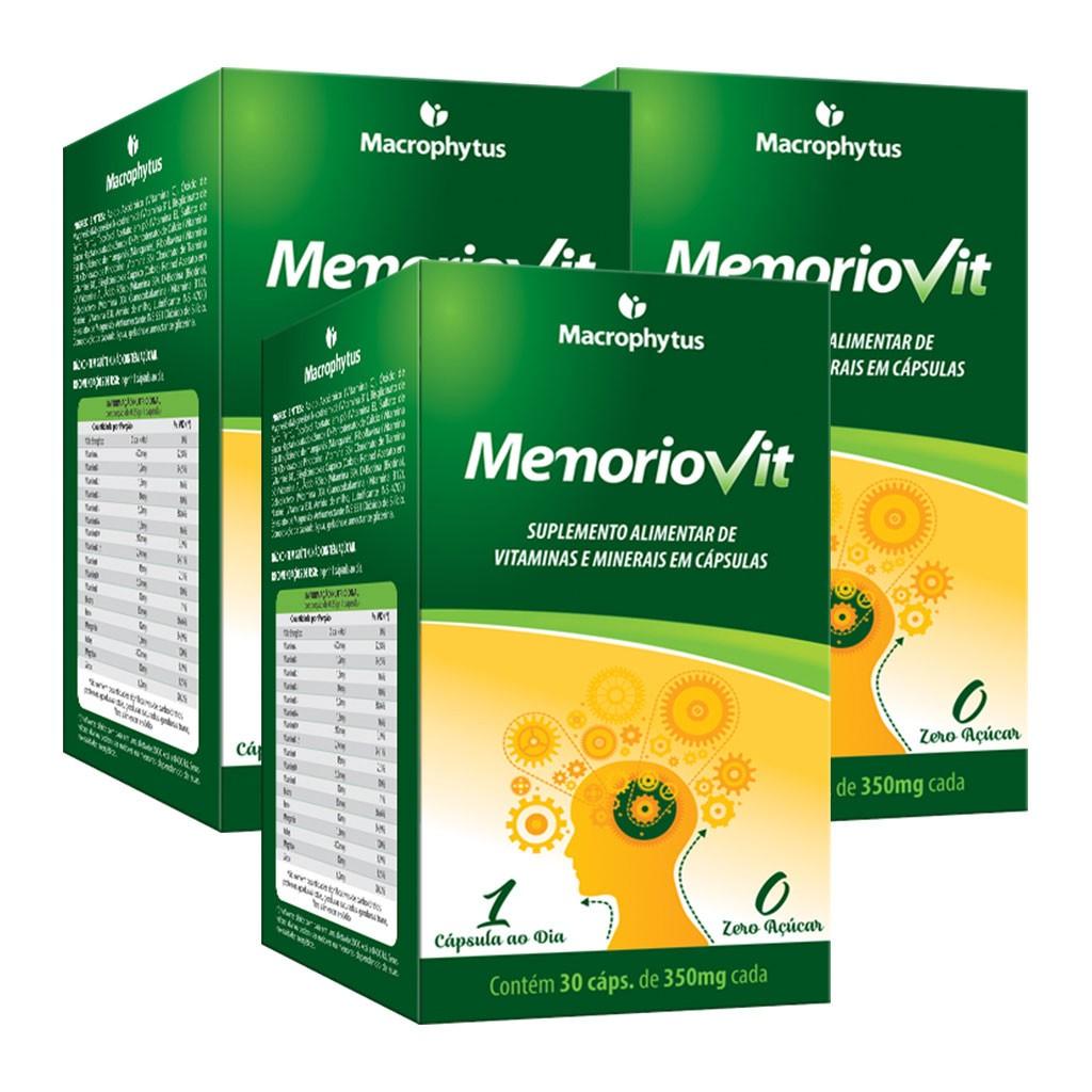 Kit 3 Memoriovit 30 cápsulas