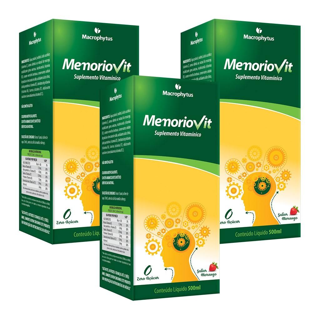 Kit 3 Memoriovit 500ml