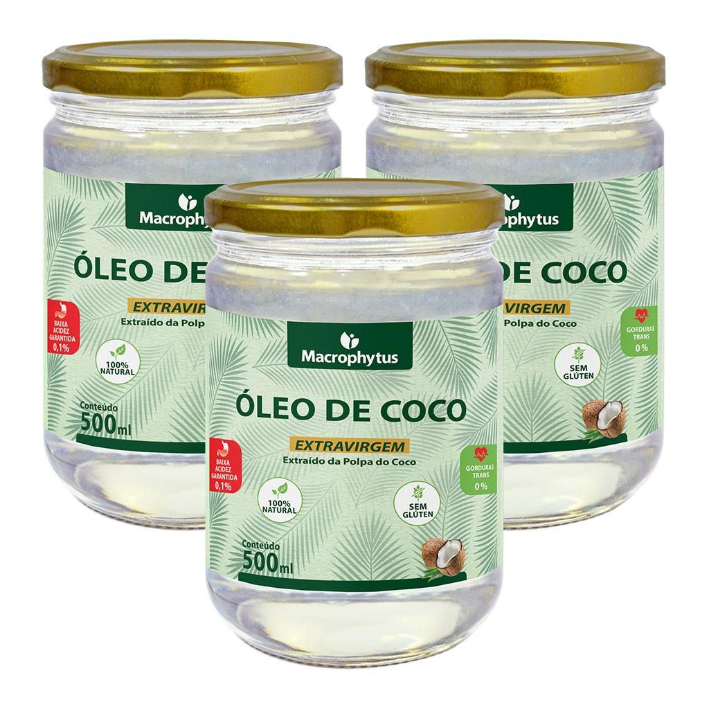 Kit 3 Óleo de Coco Extravirgem 500ml