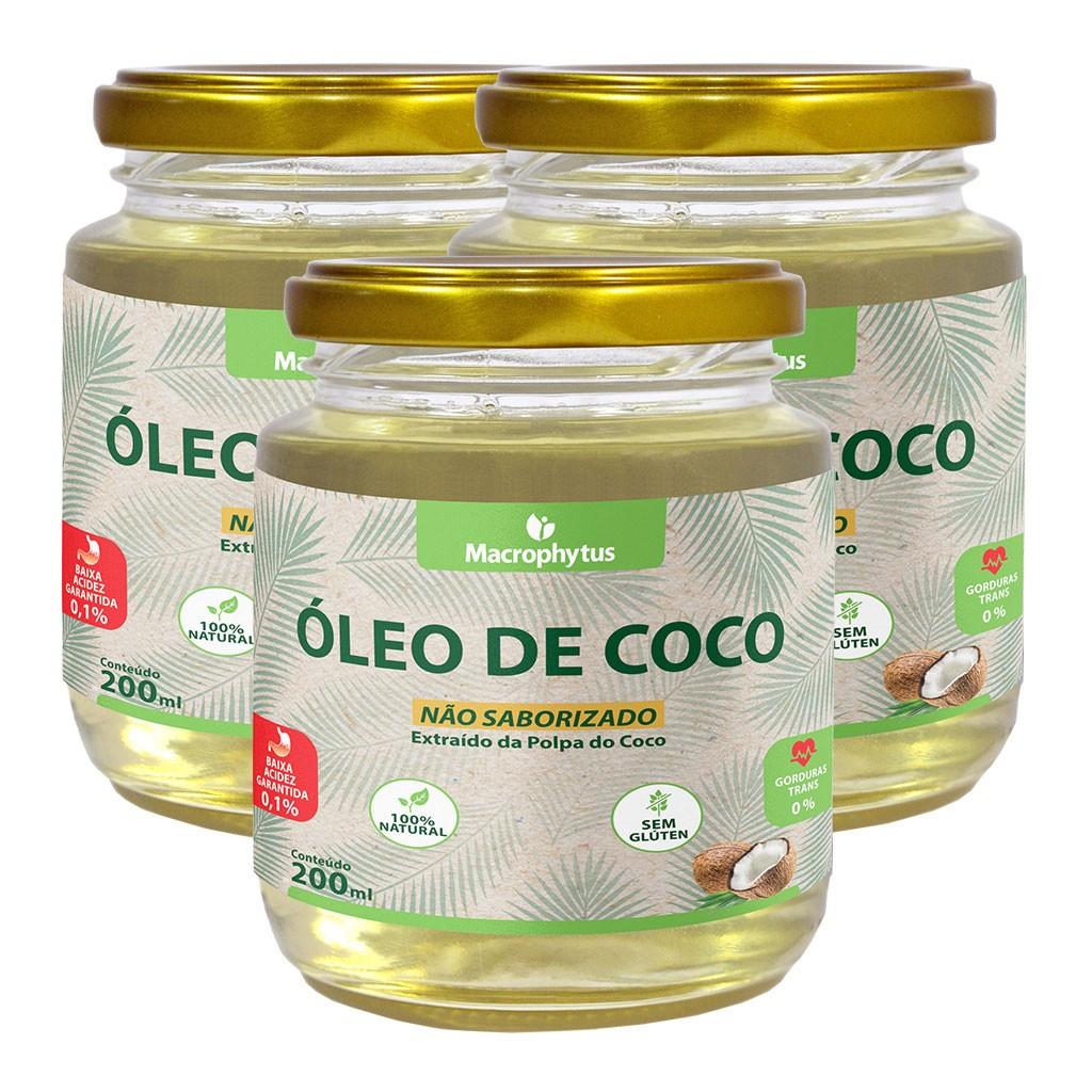 Kit 3 Óleo de Coco Não Saborizado 200ml