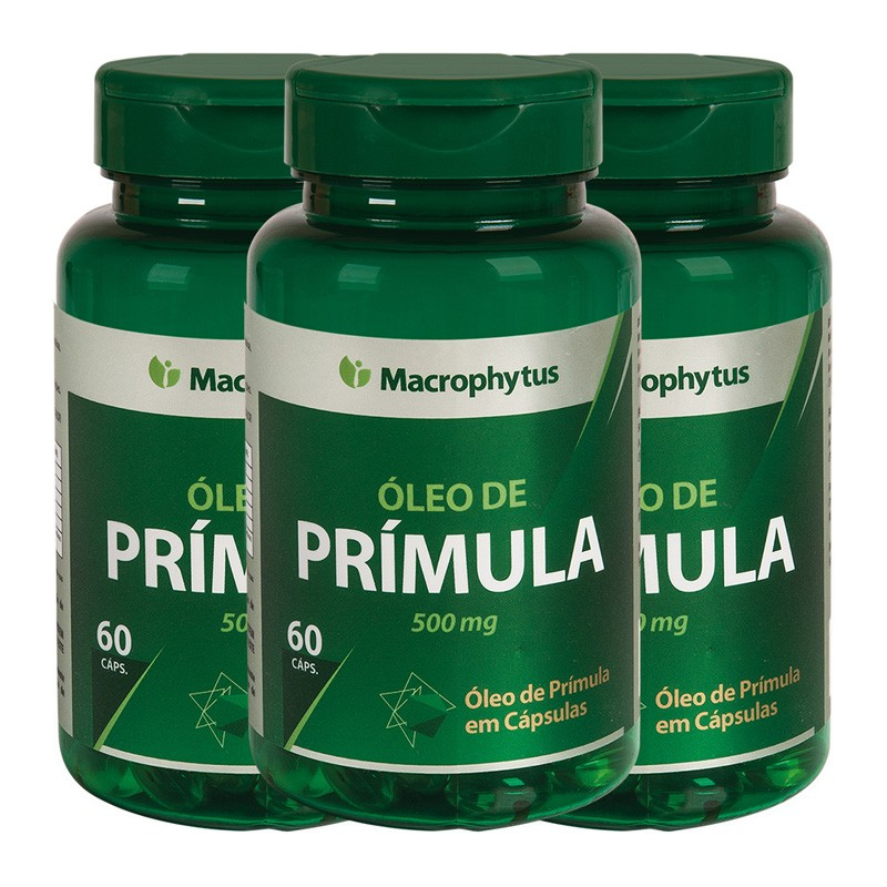 Kit 3 Prímula 500mg 60 cápsulas