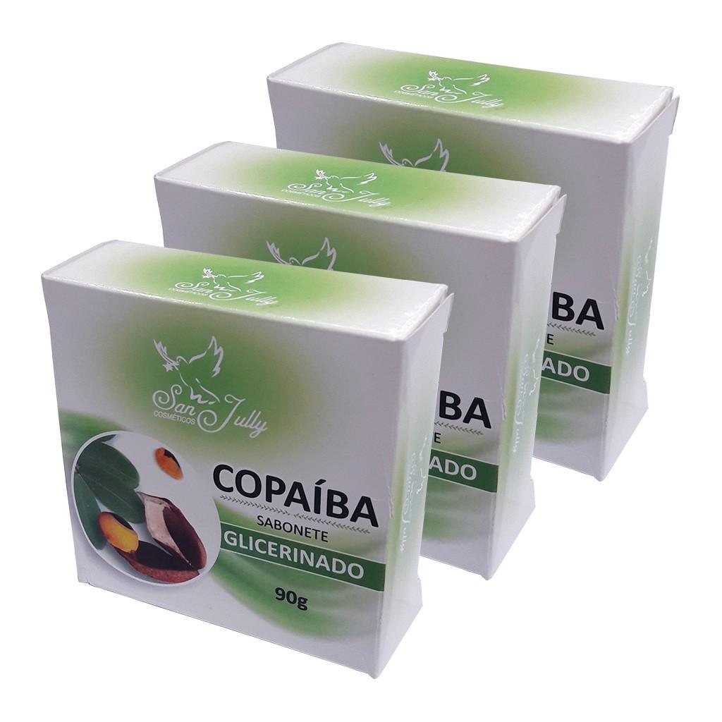 Kit 3 Sabonete Barra Copaíba 90g