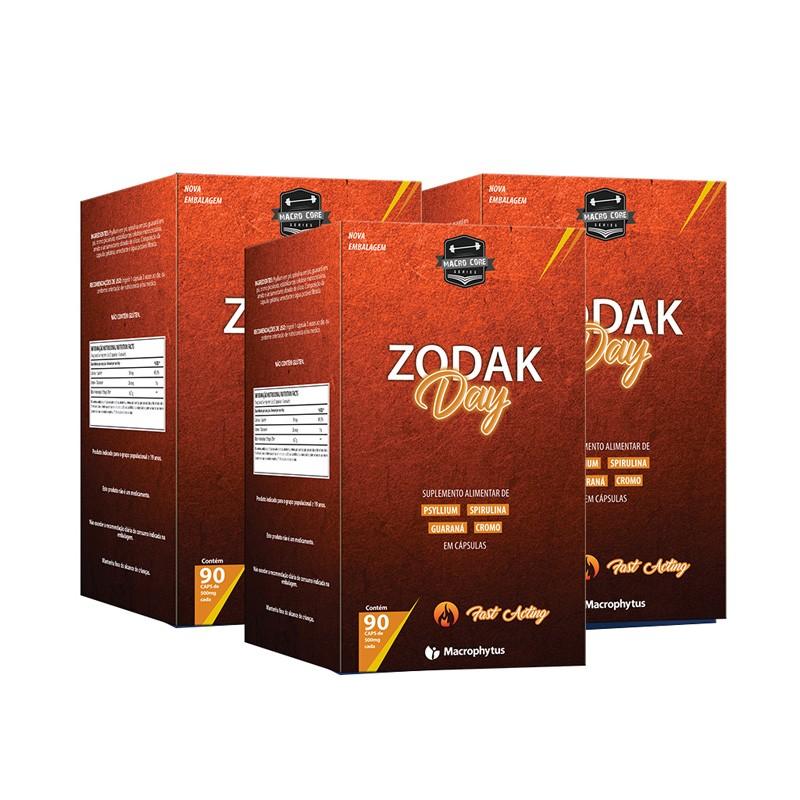 Kit 3 Zodak Day 500mg 90 cápsulas
