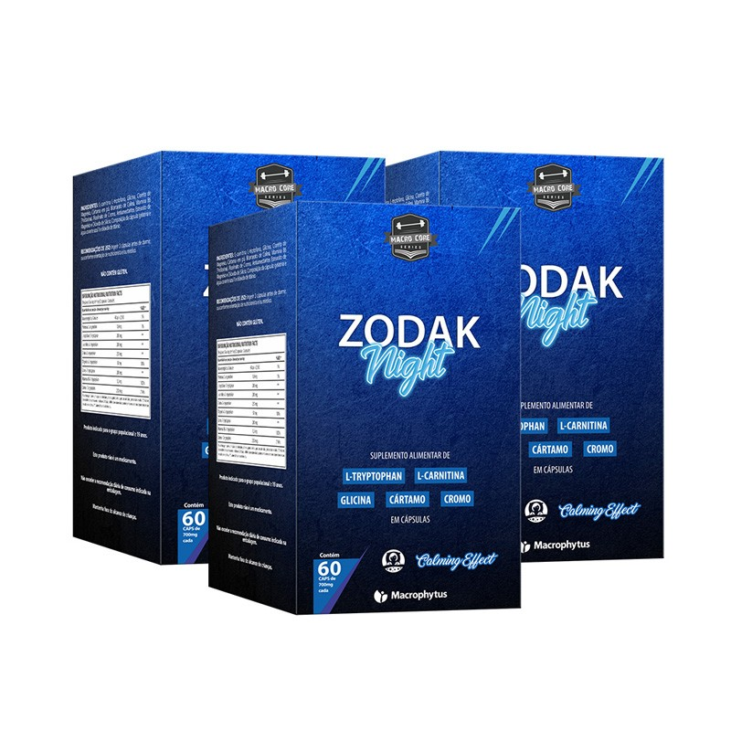 Kit 3 Zodak Night 700mg 60 cápsulas