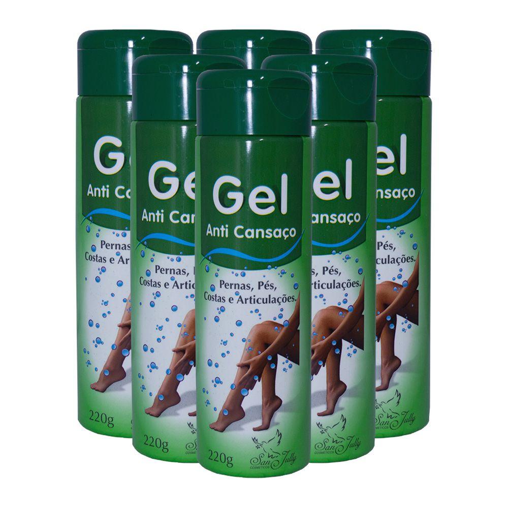 Kit 6 Gel Anti-cansaço para Pernas e Pés 220g