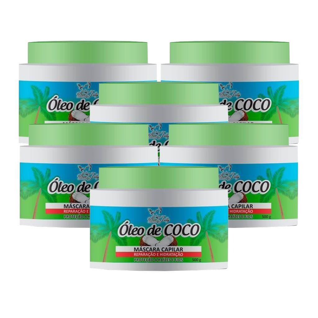 Kit 6 Máscara Capilar Óleo de Coco 500g