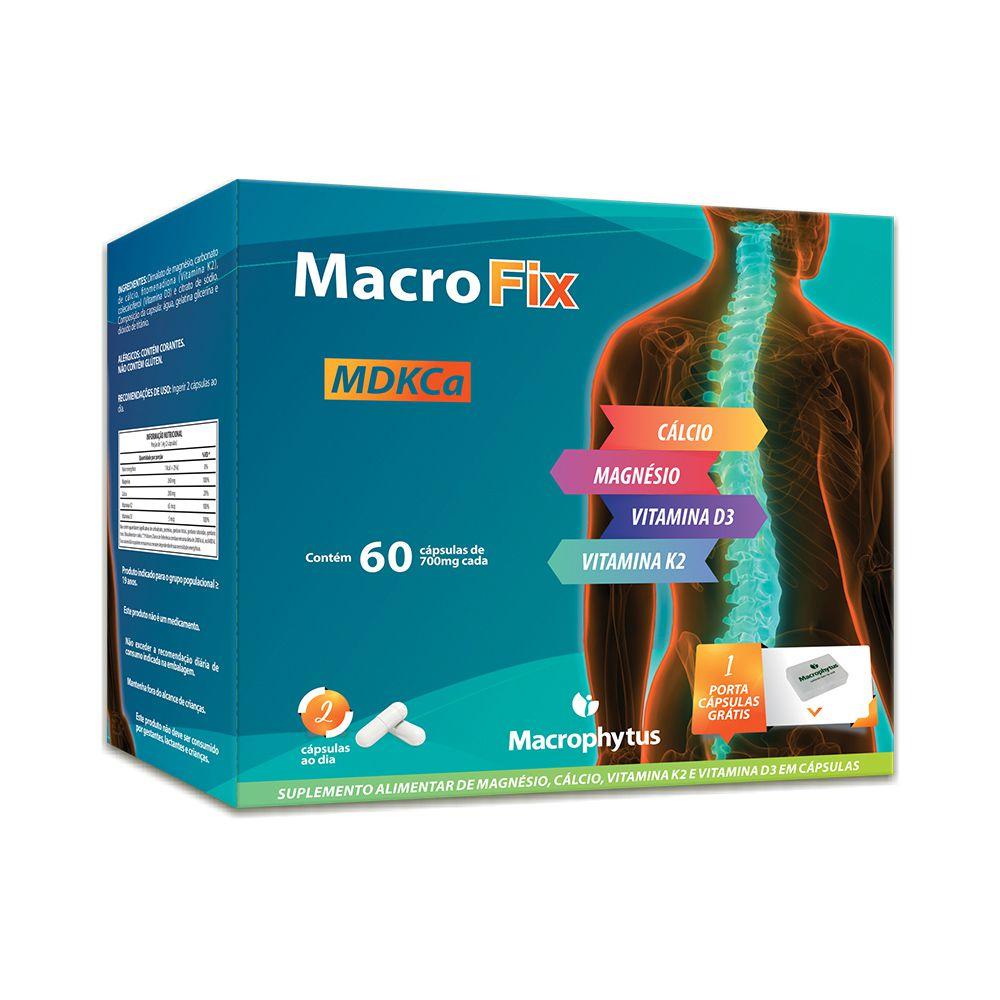 Macro Fix 60 cápsulas (cálcio + magnésio + vitaminas)