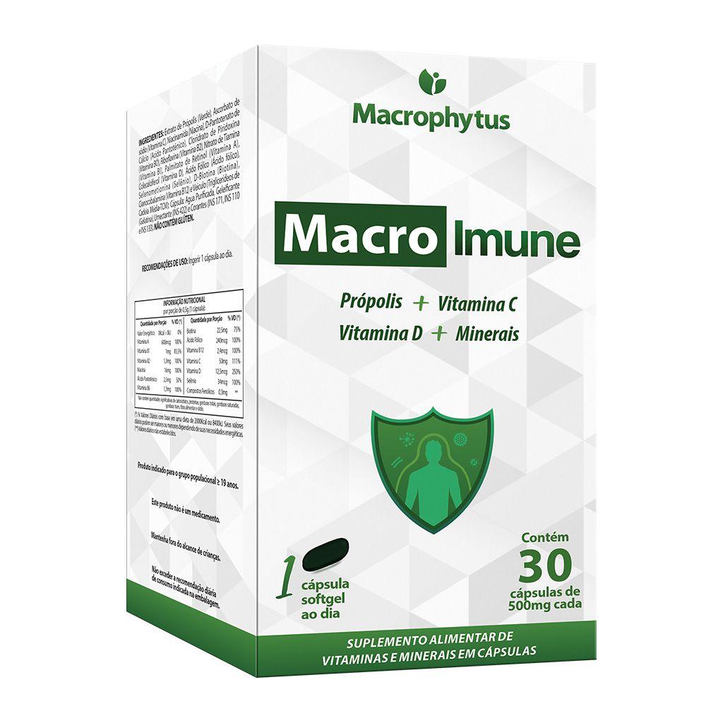Macro Imune 500mg 30 cápsulas