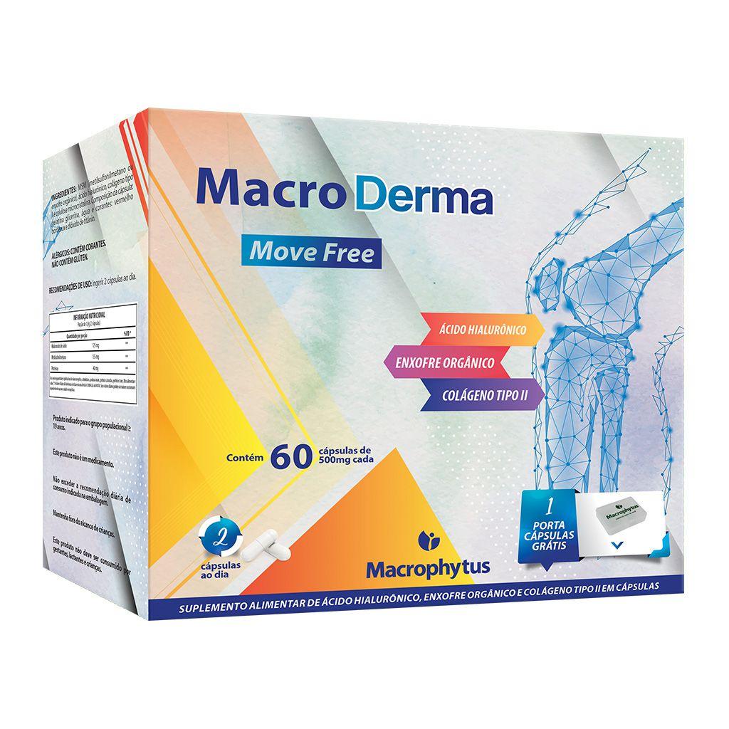 Macro Derma 500mg 60 cápsulas (ácido hialurônico + colágeno tipo ll)