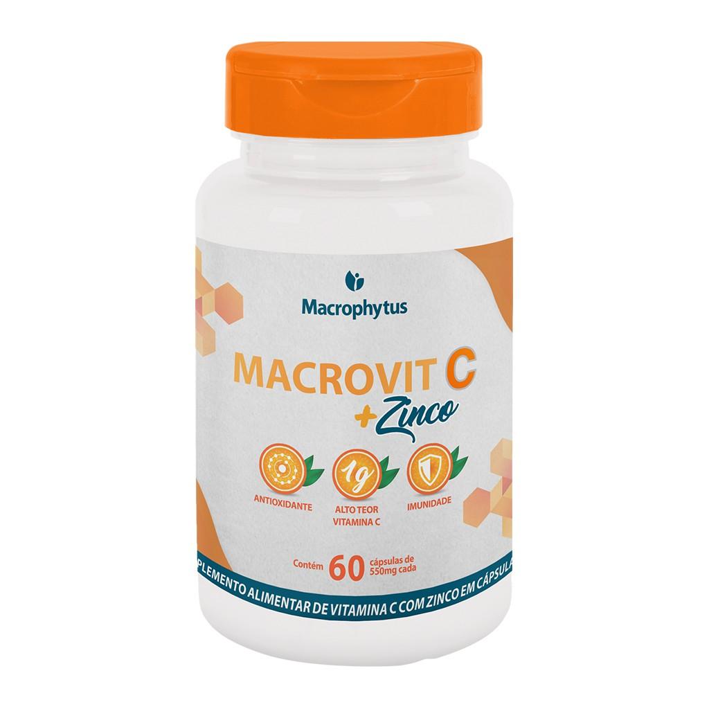 Macrovit C + Zinco 1g 60 cápsulas