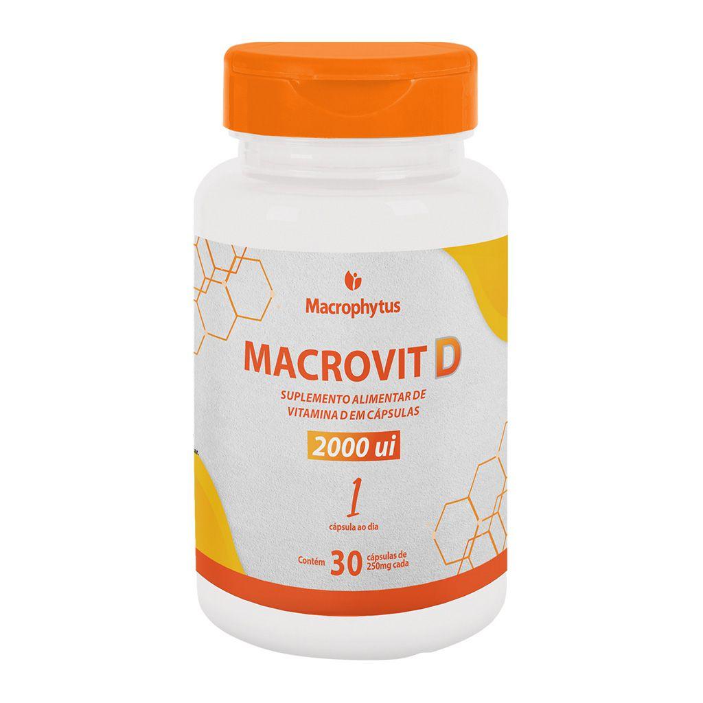 Macrovit D 2.000ui 250mg 30 cápsulas