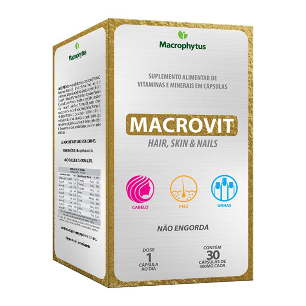 Macrovit Hair, Skin & Nails 30 cápsulas