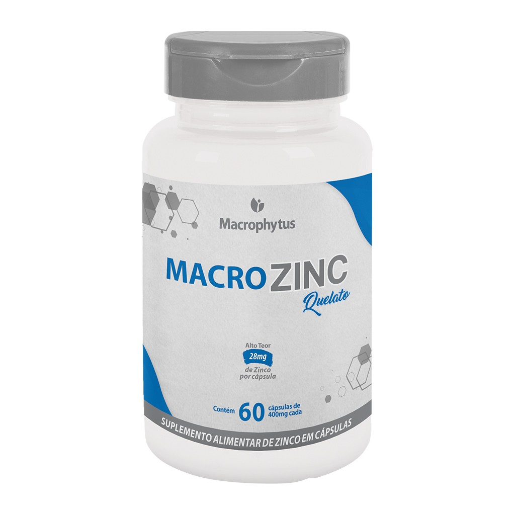 MacroZinc (Zinco) 400mg 60 cápsulas