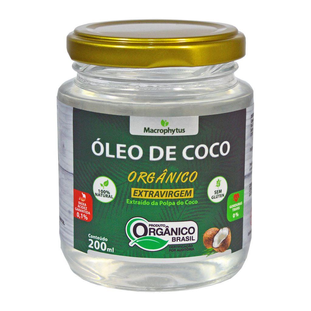Óleo de Coco Extravirgem Orgânico 200ml