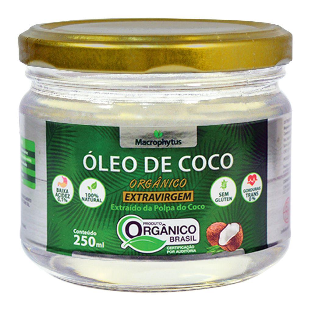 Óleo de Coco Extravirgem Orgânico 250ml