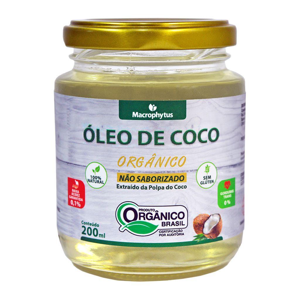 Óleo de Coco Não Saborizado Orgânico 200ml