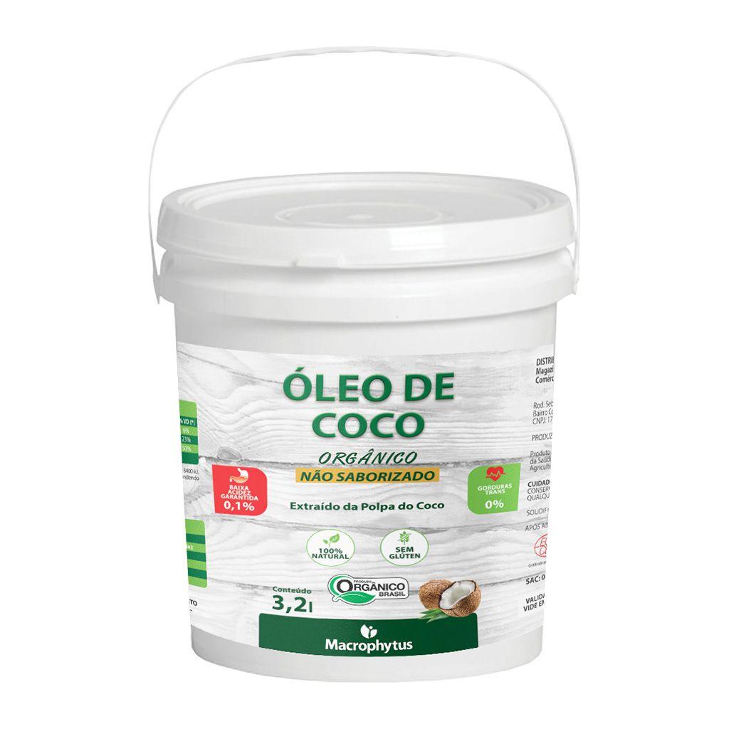 Óleo de Coco Não Saborizado Orgânico 3,2l