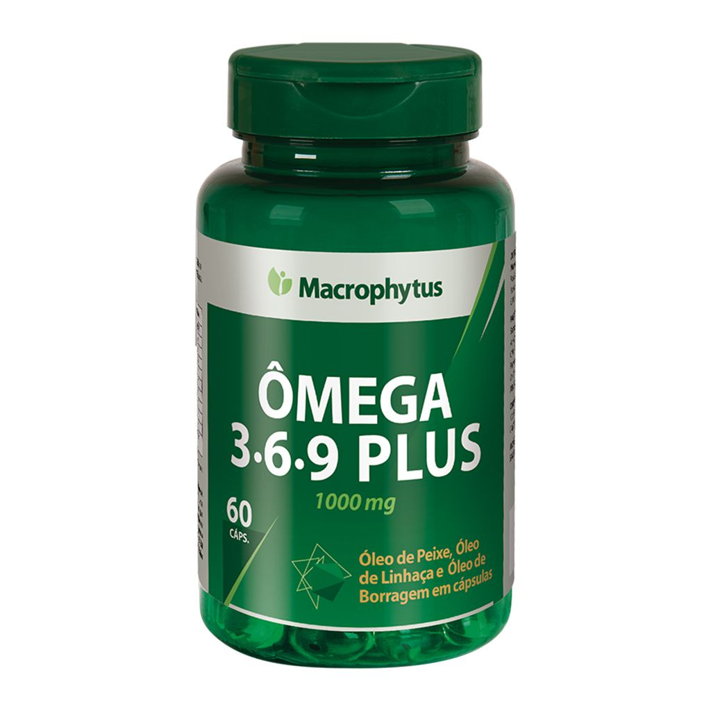 Ômega 3-6-9 Plus 1000mg 60 cápsulas