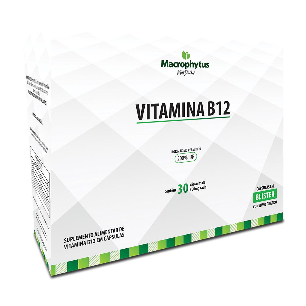 Vitamina B12 380mg 30 cápsulas 200% IDR (Blister)