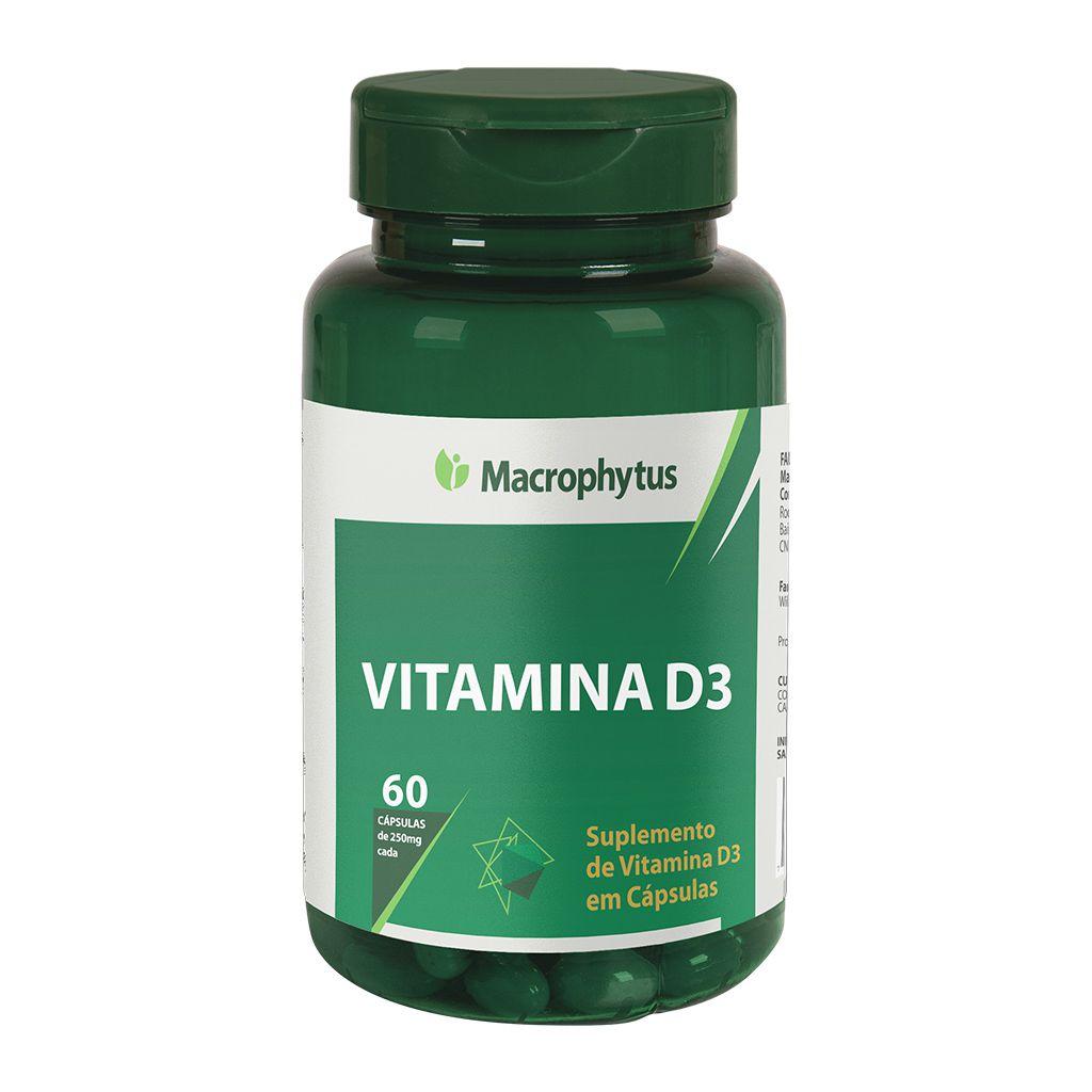 Vitamina D3 250mg 60 cápsulas